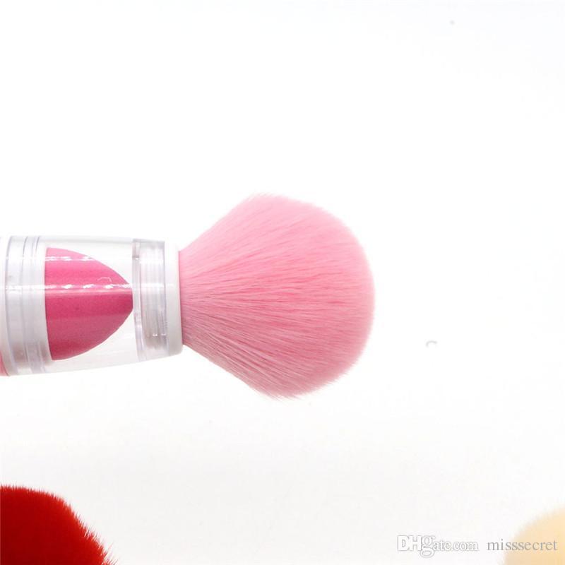 Pennelli trucco singolo Pennelli in spugna Fondotinta in polvere sfuso Fondotinta pennelli 2 in 1 Maquillage