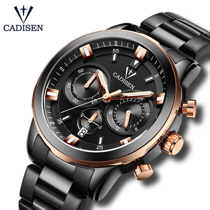 15bdb30ad2c 2017 New CADISEN Quartz Watches Men Luxury Brand Army Waterproof Watch Six  Pin Sport Wristwatches Relogio Masculino Watches Discount Discount Designer  ...