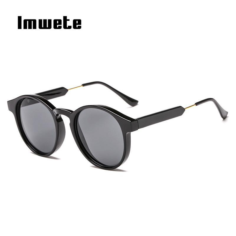 e027f11e5 Compre Imwete Retro Rodada Óculos De Sol Das Mulheres Dos Homens Unisex  Projeto Do Vintage Pequenos Óculos De Sol Para Homens Óculos De Condução  Shades ...
