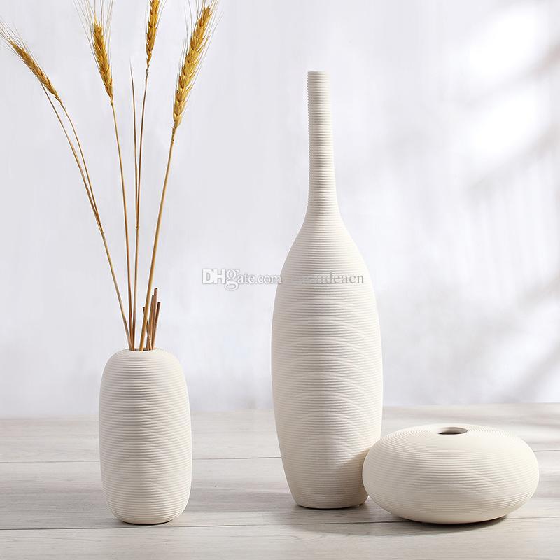White Ceramic Bisque Vase Unglazed Ceramic Flower Vases With