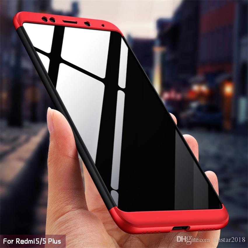 360 Case for Xiaomi Redmi Note 5A S2 Case Luxury Hard PC Back Cover Full  Protection Case for Redmi Note 5 Pro