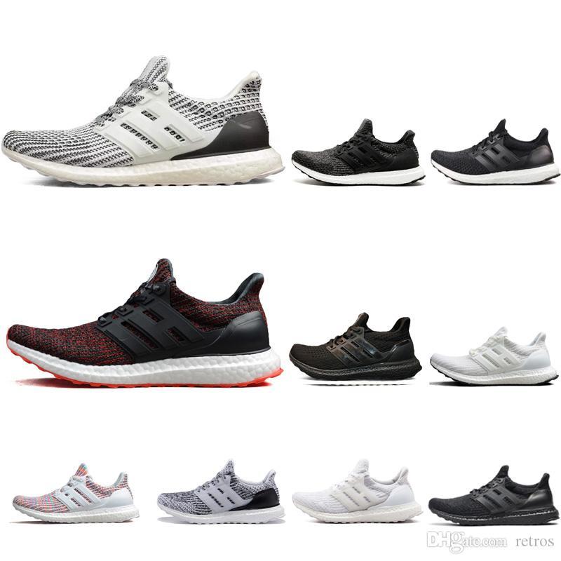 Acquista Adidas Ultra Boost 3.0 4.0 Top Ultra Boost 3.0 4.0 Triple Nero  Bianco CNY Multicolor Sports Trainers Uomo Donna Moda Uomo Sneakers Donna  Scarpe Da ... 9fdcee6a2ea