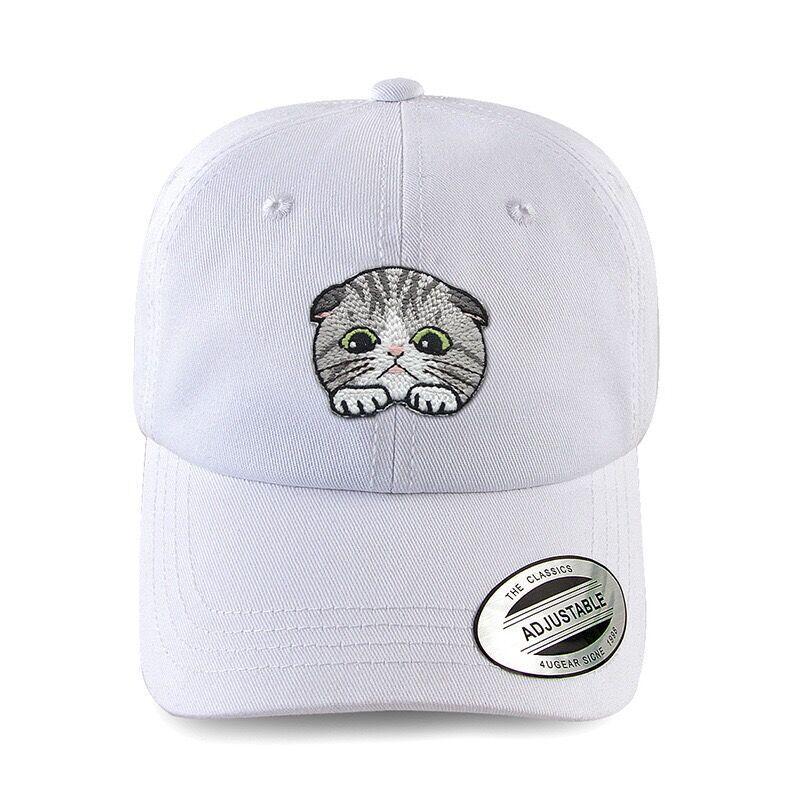 a7487a6dfd47f High Level New Stylish Unisex Baseball Caps Hand Make DIY Summer Sun Hats  Cute Cat Solid Snapback Cap Attractive Hat Cool Cap Men Hats Zephyr Hats  From ...