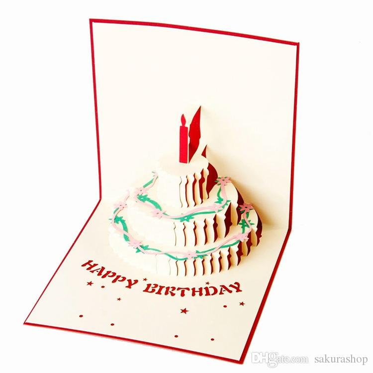 3d card birthday greeting cards card cake 3d pop up gift greeting 3d card birthday greeting cards card cake 3d pop up gift greeting blessing cards handmade paper silhoue creative happy cards business greeting card m4hsunfo