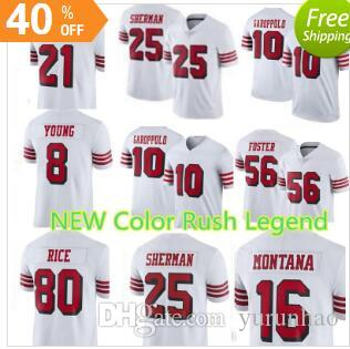 5f7764afd San Francisco 49ers 10 Jimmy Garoppolo 7 Colin Kaepernick Jersey Mens 16  Joe Montana 25 Richard Sherman 56 Reuben Foster Football Jerseys San  Francisco ...