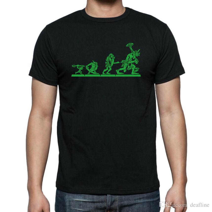 697124511f ... GOBLIN EVOLUTION T-SHIRT..sizes Up to 5XL Funny Casual Clothing Fashion  2018 Funny T Shirt Online with $14.08/Piece on Deafline's Store | DHgate.com