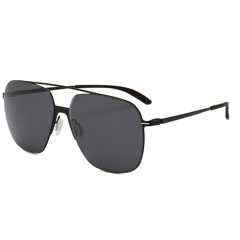 8718d679d Compre Vazrobe Óculos Polarizados De Aço Inoxidável Dos Homens TAC 2.0mm  Lente Polaroid Do Homem Condução Óculos De Sol 20g Ultra Leve Masculino  Preto De ...