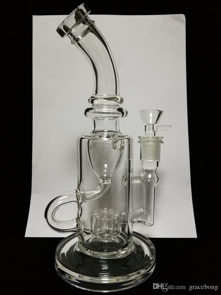 Klein 2017 Glass Bong oil Rigs Thick Glass Bongs smoking water pipes vortex spiral hitman hookahs