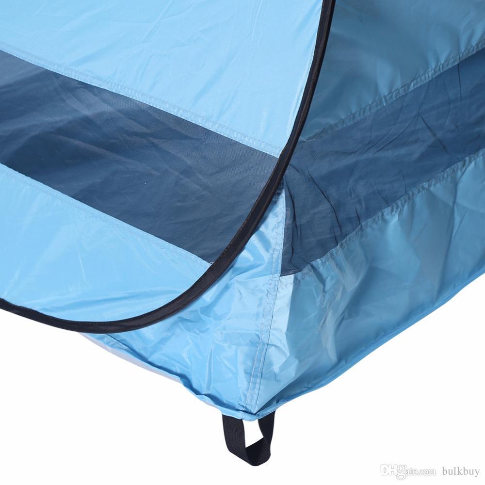 في الهواء الطلق الشمس الظل التخييم خيمة المشي الشاطئ خيمة uv حماية التلقائي بالكامل الشمس الظل المحمولة المنبثقة شاطئ خيمة السفينة منا