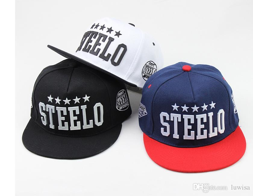 570fe77f STEELO Baseball Cap Stars Cotton Adjustable Flat Baseball Cap Snapback Hats  Hip Hop Caps Unisex