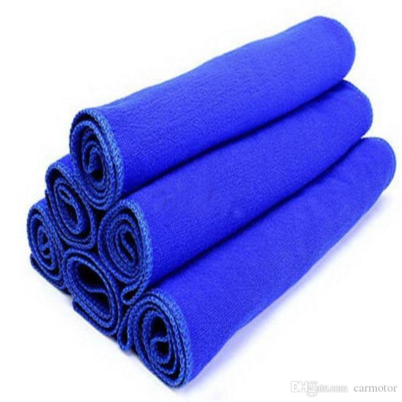 30 * 30 cm Microfiber Microfiber a toalha de toalha de carro auto lavagem seca limpa polonesa pano azul cor rápida frete grátis