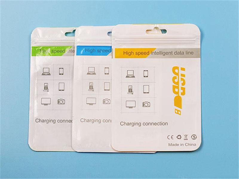 10,5 * 15 pacote de varejo Limpar Saco caixas para celular Carregador Micro cabo USB cabo de sincronização do fone de ouvido áudio Samsung S6 Packing
