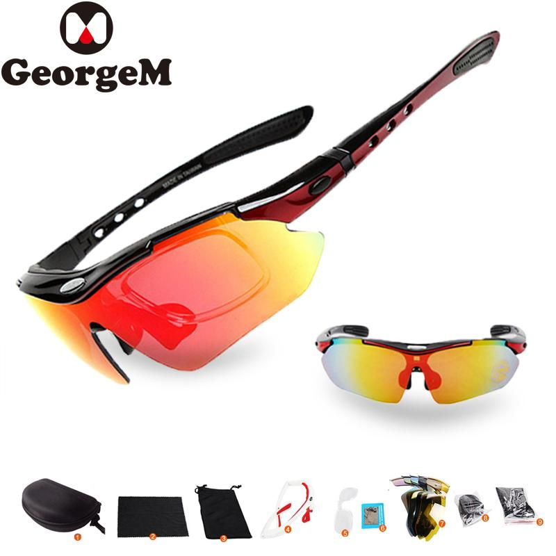 5509ed236f85 GeorgeM 29g Lens Professional Polarized Cycling Glasses Bike Goggles ...