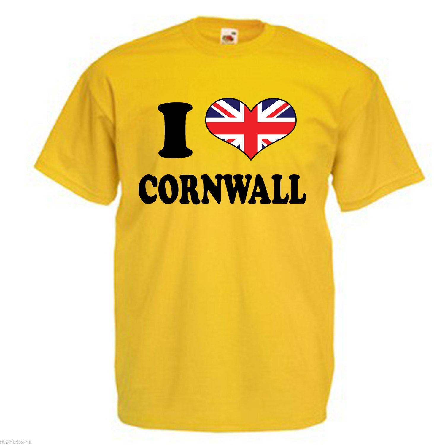 f9b929f599 I Love Heart Cornwall Adults Mens T Shirt Funny Unisex Casual Tee Gift Buy  Tees Funniest T Shirt From Fat_dad, $12.96  DHgate.Com