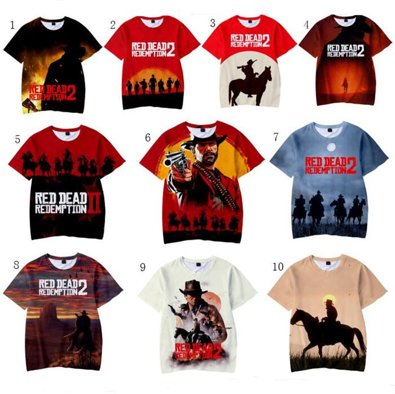 523f0dd5d56 2018 New Games Unisex Red Dead Redemption 2 Harajuku Unisex Tees 3D T Shirts  Casual Kids And Adult Cartoon Print Pullover Tops XXS 4XL Funny Political T  ...