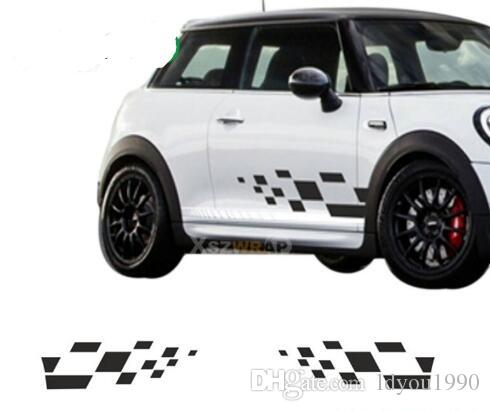 2019 Square Side Stripes Decals Cooper Mini Classic S Works Clubman
