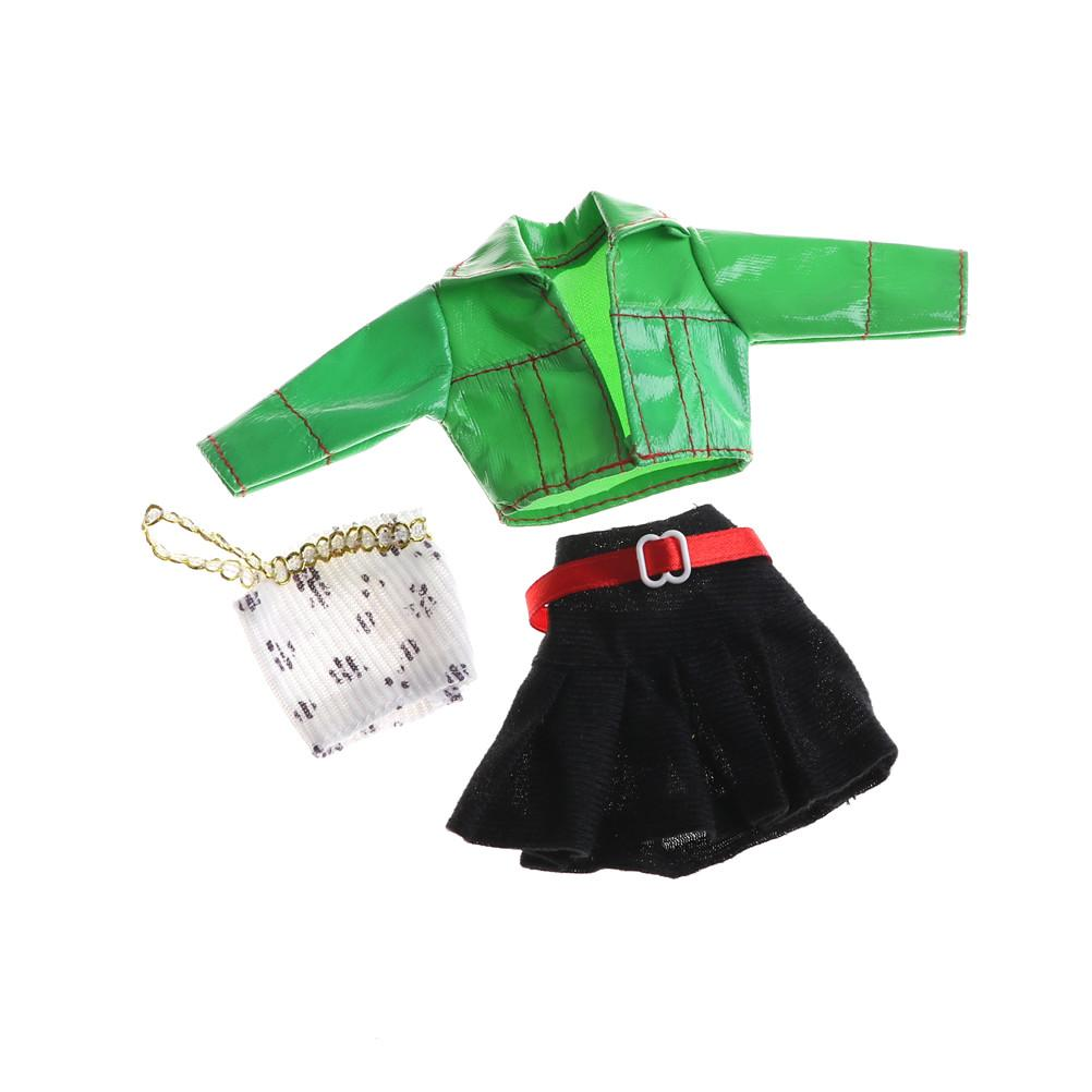 54e6de69edd3 Outfit For Fashion Costume Tops+Coat+Skirt Accessories For Doll ...