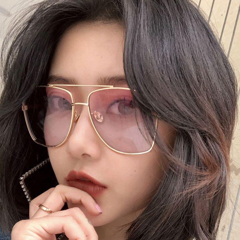 5f77466cb0 New Flat Top Sunglasses Oversize Goggles Mens Square Sunglasses Women  Fashion Famous Brand Designer Metal Eyewear UV400 ZB 21 Baseball Sunglasses  John ...