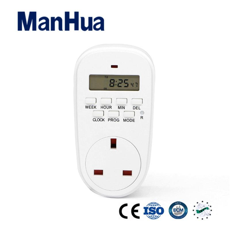 Manua Products For British 240v Programmable Electrical Programmable Digital Socket Timer Switch Tg44el 1 Minute Timer 30 Minute Timer From Baiheyu