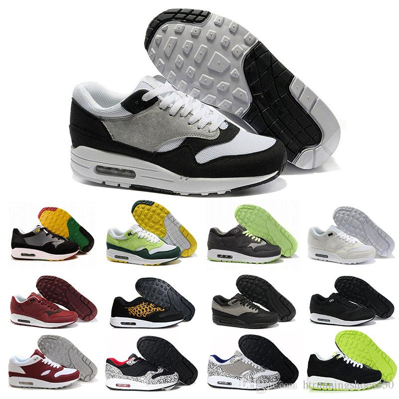 huge selection of 90930 2f0fc Compre Nike Air Max 87 Airmax Newst Wholesale 2017 Hombres Casual Thea 87  90 Negro Rojo Azul Gris Trainer Chukka Ligero Transpirable Senderismo  Senderismo ...