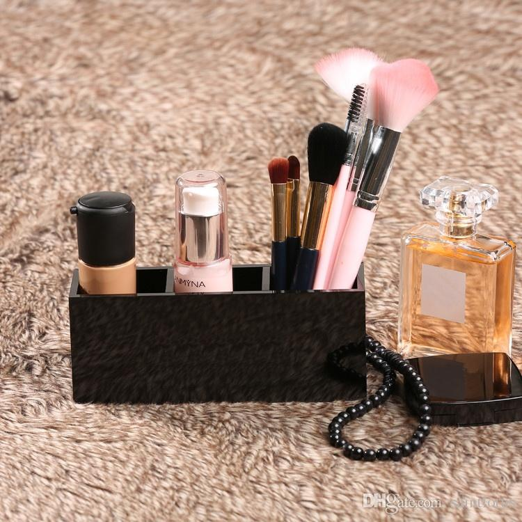 2018 Brand New Black Lipstick Cube Makeup Organizer Storage Box Acrylic Make Up Organizer Cosmetic Organizer Makeup Storage Box From Saintlotus ... & 2018 Brand New Black Lipstick Cube Makeup Organizer Storage Box ...