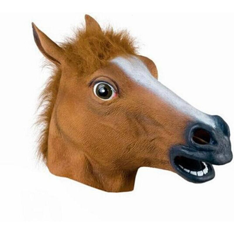 1 pc Animal Horse Head Mask Halloween Creepy Party Theater Prop Novelty Latex Rubber Costume masks S3