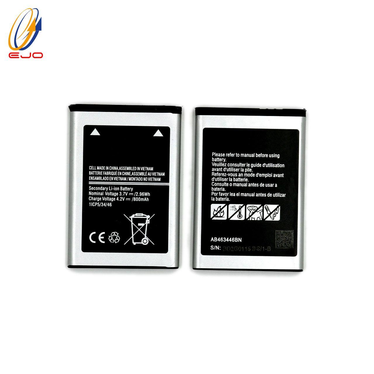 Samsung E208 Telefon Için Pil Pili Değiştirin x200 x208 e200 için Yüksek Kapasiteli s259 AB463446NB AB463446BU Yüksek Kapasiteli Pil
