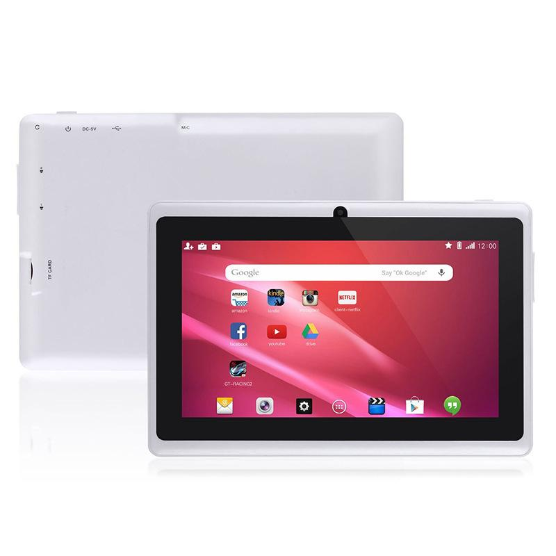 Glavey 7 pulgadas Android 4.4 Allwinner A33 Tableta quad core pc1GB / 8GB Bluetooth wifi 1024x600 Los niños más baratos tablet pc