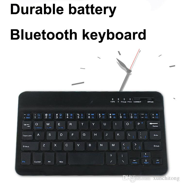 7 10inch Keyboard Bluetooth Ultra-thin mini long-lasting Battery Universal Bluetooth keyboard for PC iPad Laptop Android IOS Tablet XPT6-3