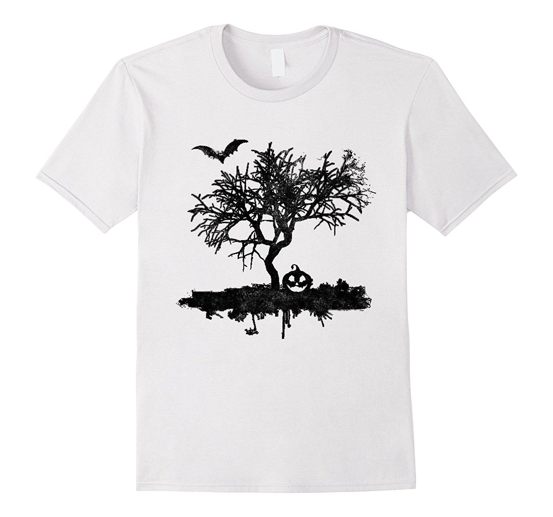 574b88ad5064e Scary Vintage Bat Tree Pumpkin Halloween Costume T Shirt T Shirt O-Neck  Summer Personality Fashion Men T-Shirts Top Tee