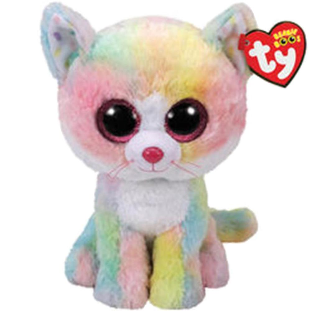 2019 Pyoopeo Ty Beanie Boos 6 15cm Fluffy The Cat Plush Regular Soft
