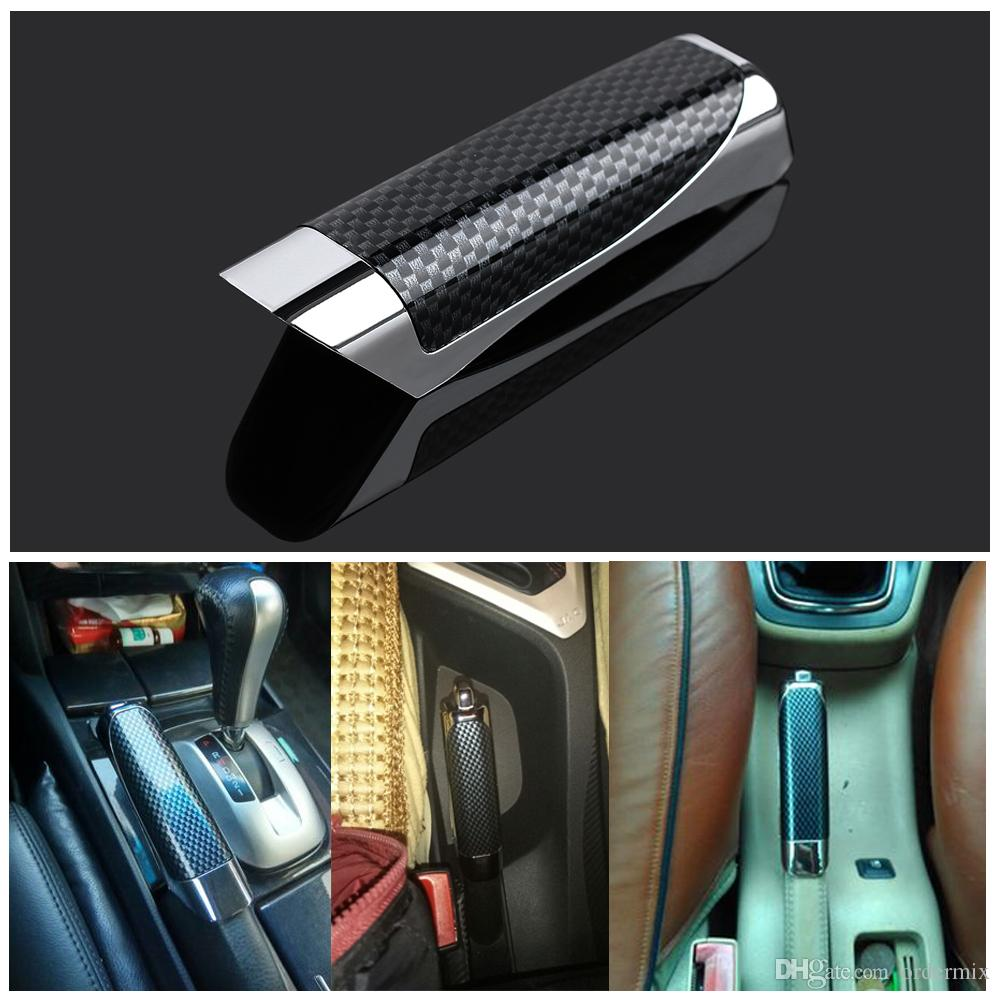 New Universal Hand Brake Protector Decoration Cover Carbon Fiber Hand Brake Protector Car Accessory