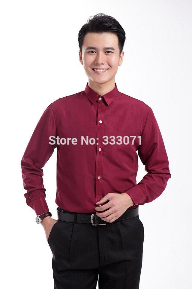 2016 New Burgundy Long Sleeved Men Shirt Wedding Prom Groom Shirts  Performance Leisure Wear Man Party Formal Shirt 39 44 UK 2019 From Yakima ee73120ed14