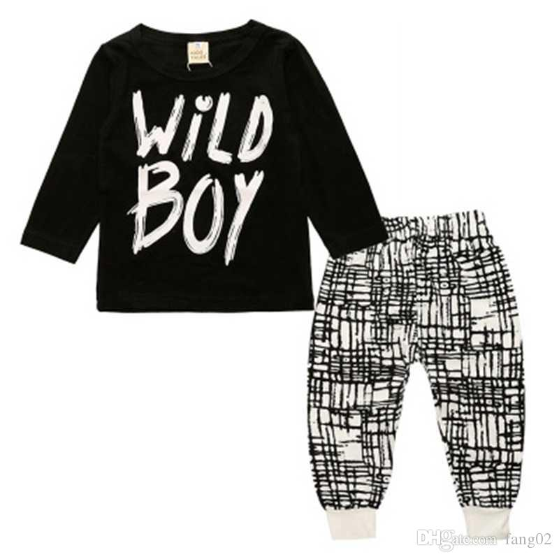 5bc53ee2b431 2019 2018 Spring Newborn Toddler Baby Boys Clothes Long Sleeve WILD ...