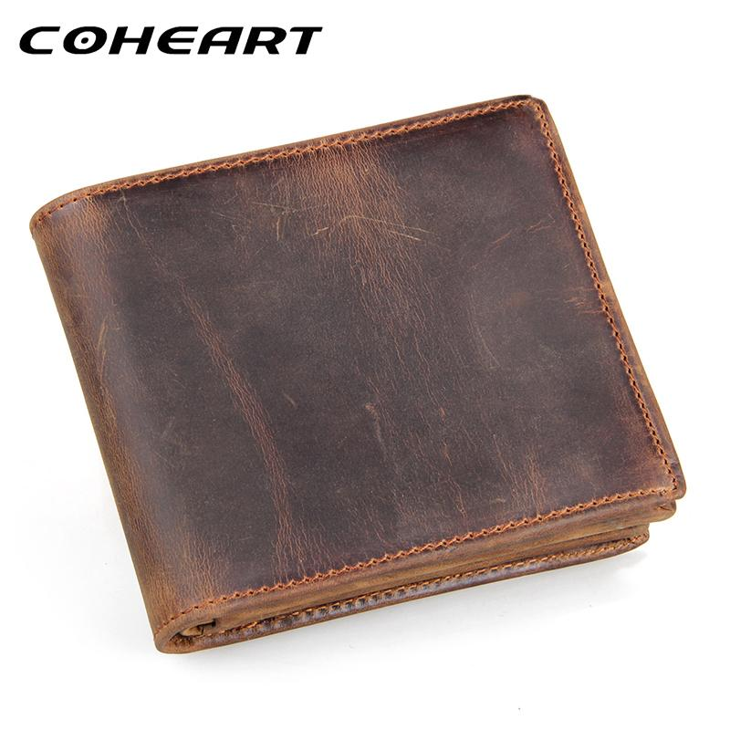 b944bc8c5b COHEART 100% genuine leather wallet men purses cowhide wallets vintage  quality guarantee lether wallet carteira masculina S923