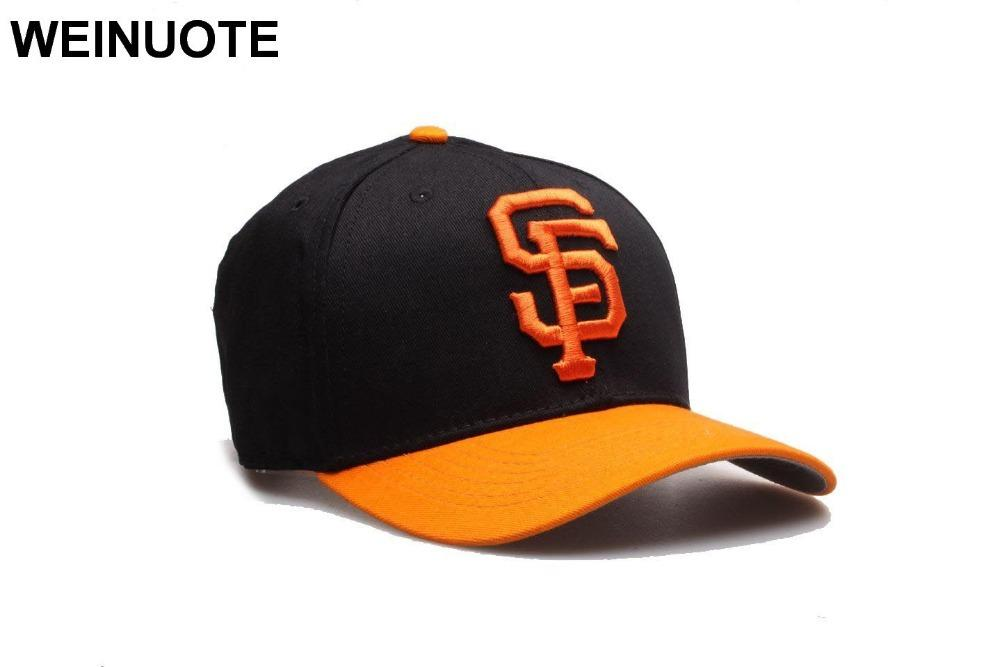554ae338f4a 3 Styles Men's San Francisco Giants Strapback Black Hats Sport classic  Fashion Orange SF Letter Baseball Hat Caps For Women D18110601