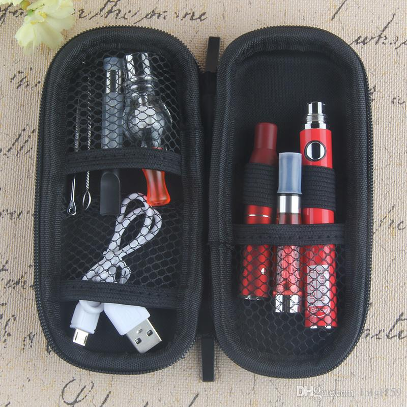 Hot 4 in 1 Vape Kit UGO-V II with Wax Glass Globe Single Cotton Coil CE4 Eliquid Oil Ago Dry Herb Vaporizer CE3 cartridges eCigs Authentic