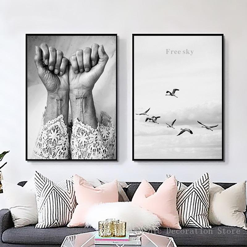 2018 Lzn Nordic Poster Black And White Love Warrior Posters And ...