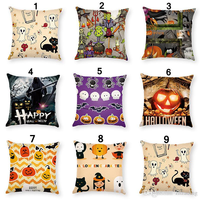 40 Different Style Halloween Holidays Cushion Covers Pumpkin Ghosts Best Halloween Pillows Decorations