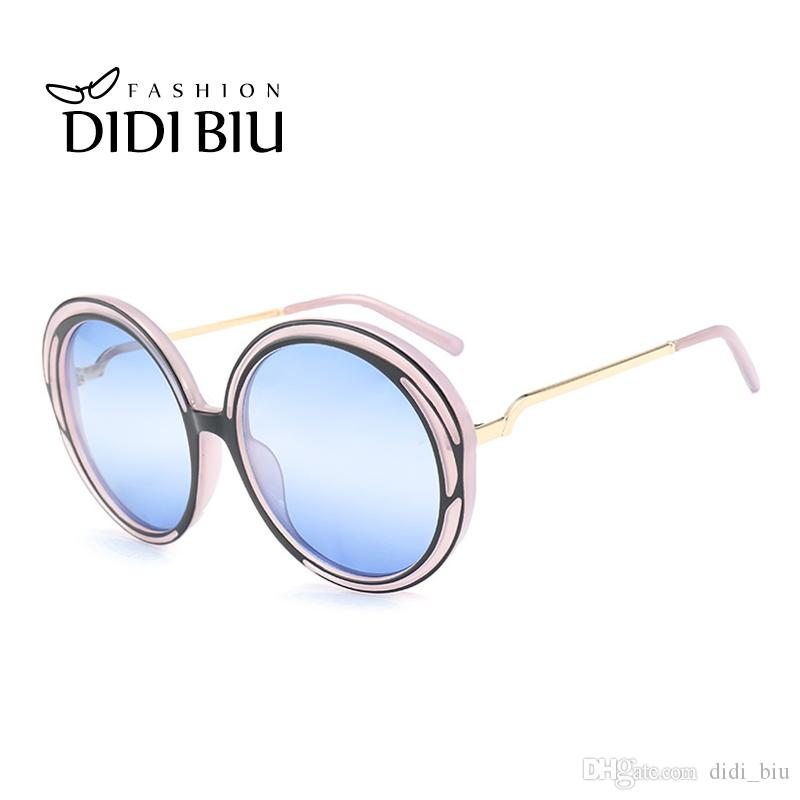 Didi Big Round Wire Frame Sunglasses Women Men Hipster Transparent ...
