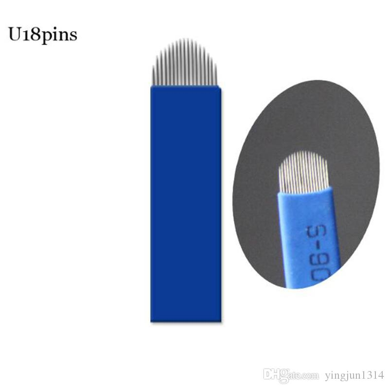 Lamina Tebori 18 Pin U Shape Tattoo Needles Permanent Makeup Eyebrow Embroidery Blade For Microblading Manual Pen