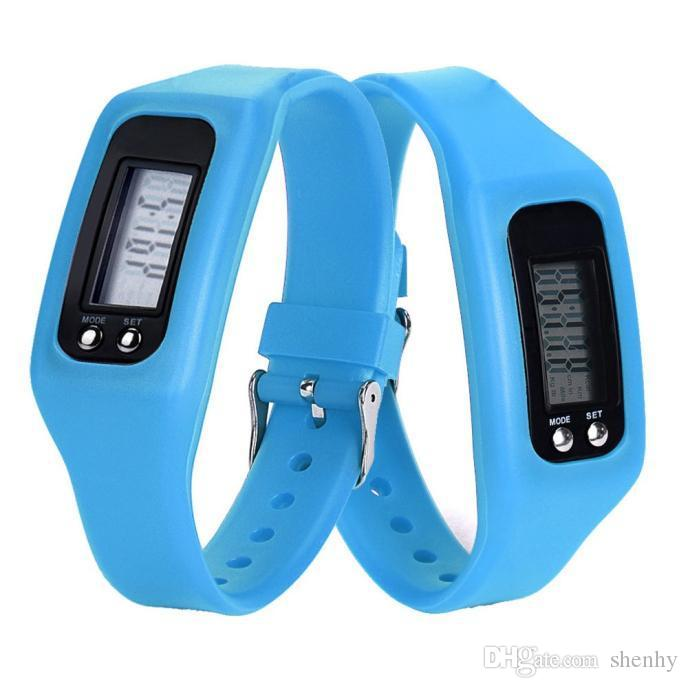 Digital LED Pedometer Smart Multi Watch silicone Run Step Walking Distance Calorie Counter Watch Electronic Bracelet Colorful Pedometers