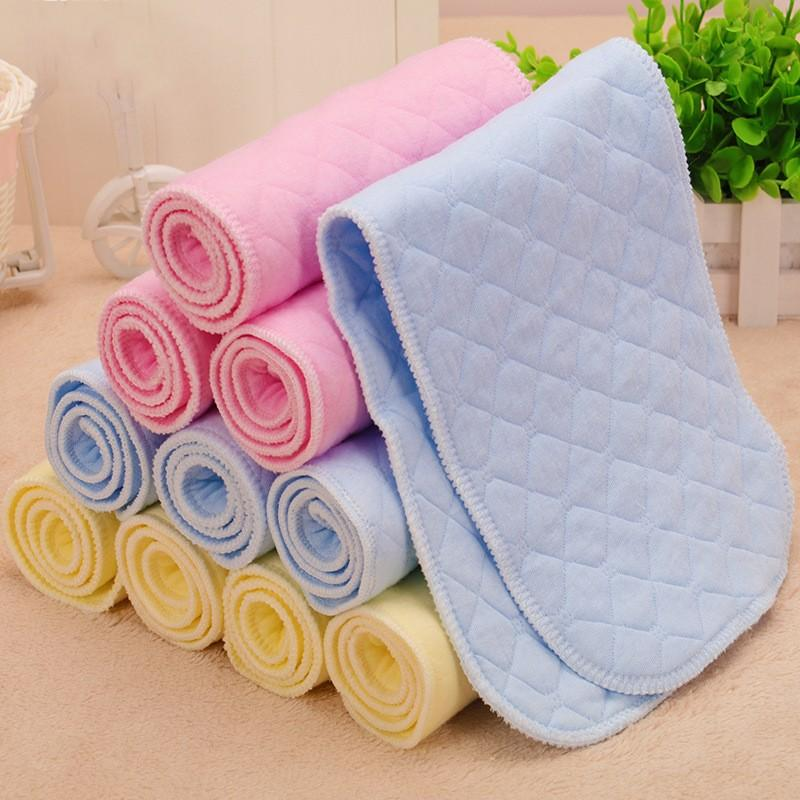 Breathable and Comfortable 6 Layers Colorful Ecological Cotton Baby Cloth Nappy Inserts Reusable Washable Diapers Nappy Changing