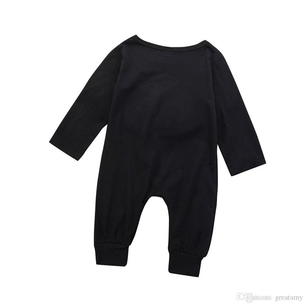 recién nacido bebé niño niña mono de una pieza mono mameluco ropa trajes bebé niño carta monos mameluco