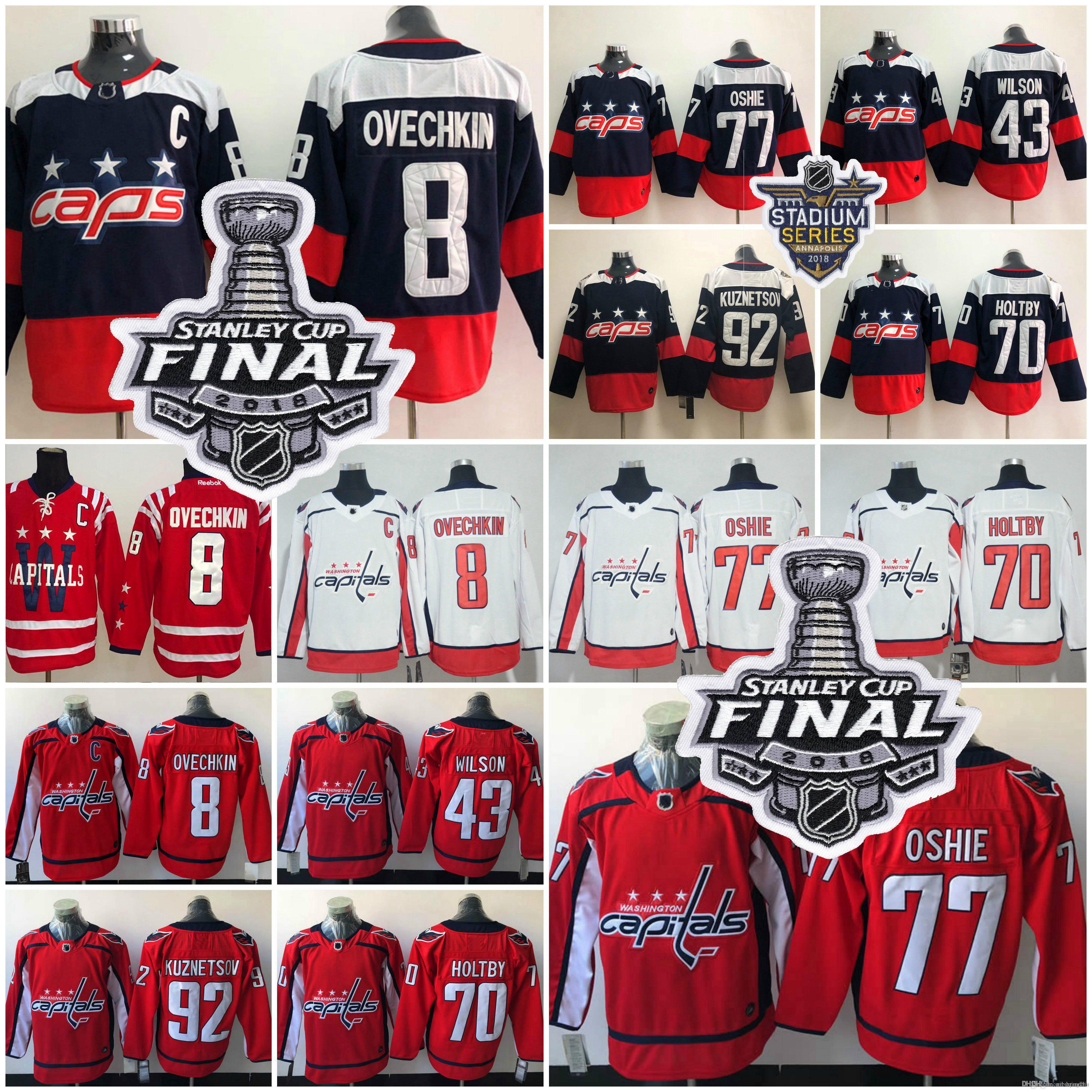 7c86d4f1c 2018 Stanley Cup Washington Capitals 8 Alex Ovechkin TJ Oshie Evgeny ...