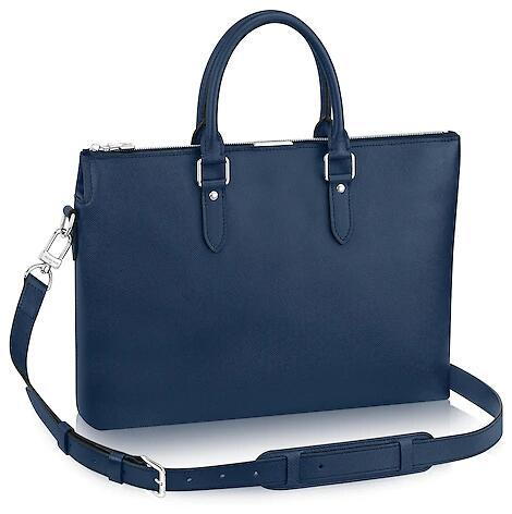 36ac9c1ccb M34401 ANTON SOFT BRIEFCASE MEN CLASSIC BLUE Real Caviar Lambskin Le Boy  Chain Flap Bag HANDBAGS SHOULDER MESSENGER BAGS TOTES