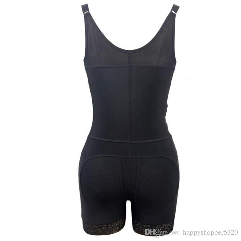 Unterwäsche Frauen Bodysuit Sexy Unterbrust Body Shaper Abnehmen Shapewear Taille Trainer Plunge U Reißverschluss Push Up Butt Lifter Nahtlose