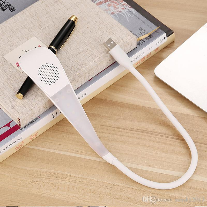 Portable USB LED Lamp with Bluetooth Mini Speaker for PC Phone Touch Button for Adjusting Light Night Light Lamp