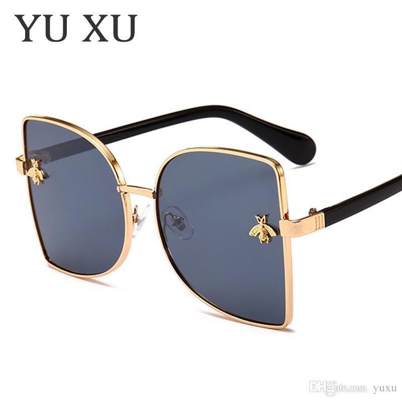 Yu Xu New Fashion Small Bee D-Frame Sunglasses Women Sun Glasses ...
