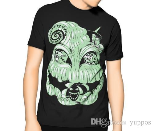casual t shirt male pattern nightmare before christmas t shirt boogie man kids mens 6xl anime casual clothing crazy tee shirts novelty t shirt from yuppos